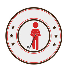 Golfer athlete silhouette icon vector