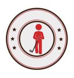 golfer athlete silhouette icon vector image