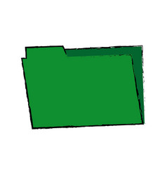 green folder archive office supply element blank vector image