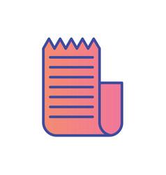 invoice flat icon sign symbol vector image
