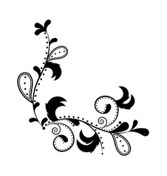 isolated arabesque vintage pattern vector image