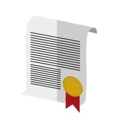 Isolated certificate of School concept design vector