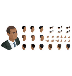 Isometric create emotions african american man vector
