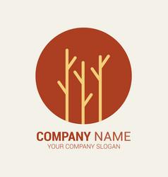 logo branch vector image