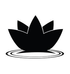 lotus flower silhouette vector image