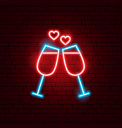 love drinks neon sign vector image