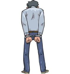 Man arrested vector