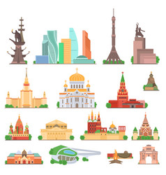 moscow sights set vector image