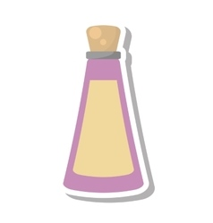 Oil bottle spa product isolated icon vector