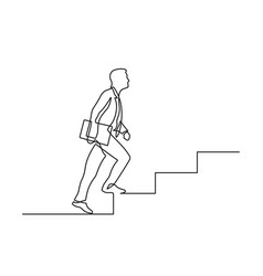 one line stairs vector image