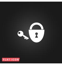 padlock and key icon Eps 10 vector image