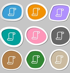 Paper scroll icon symbols Multicolored paper vector