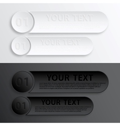 Paper Web Button Interface vector