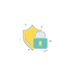 password and security icon design vector image