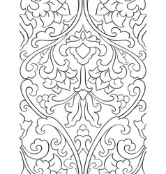 Pattern with flowers for wallpaper vector