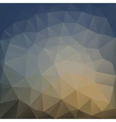 Poligonal of colored triangle vector image
