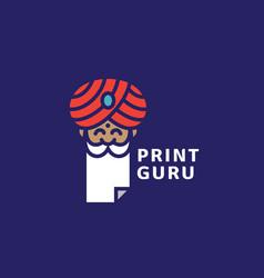 print guru logo vector image