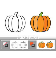 pumpkin linear icon thanksgiving coloring page vector image