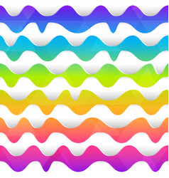 rainbow color wave seamless texture vector image