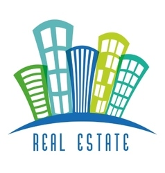 Real estate edifices and residential towers vector image