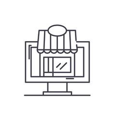 remote trading line icon concept remote trading vector image