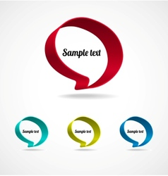 Ribbon Speech Bubble vector image