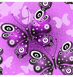 Seamless pink-violet pattern vector image