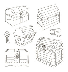set of chest vector image vector image