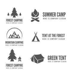 set of modern camp badges logo emblem vector image
