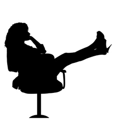 Sexy secretary on chair vector image