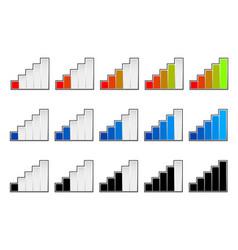 Signal strength indicators or general gauge vector