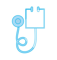 silhouette medical stethoscope tool and cardiology vector image