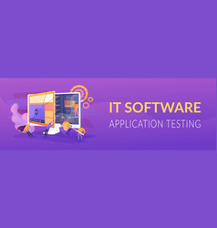 software testing concept banner header vector image
