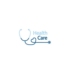 stethoscope logo health care logo in form vector image