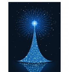 stylized Christmas tree background vector image