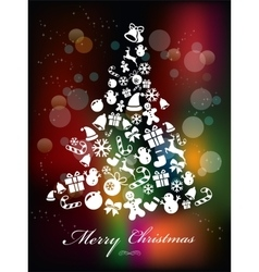 Stylized Colorful Background with Christmas vector image