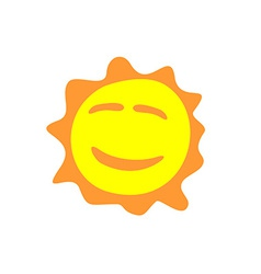 Sunshine fun sign Smiling sun logo vector