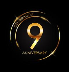 Template 9 years anniversary vector