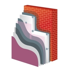 Thermal Insulation Polystyrene Isolation vector image