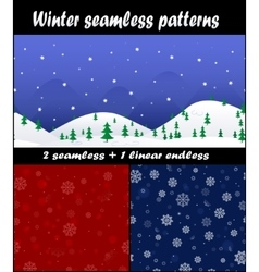Three christmas and new year seamless pattern vector