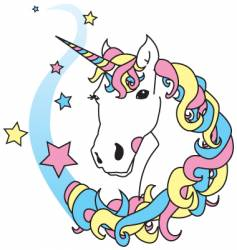 unicorn magic vector image