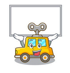 Up board character clockwork car for toy children vector