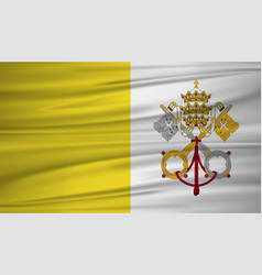 vatican city flag flag of vatican city blowig in vector image