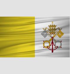 vatican city flag flag of vatican city blowig in vector image