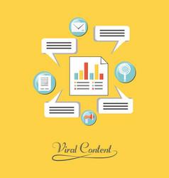 Viral content design vector