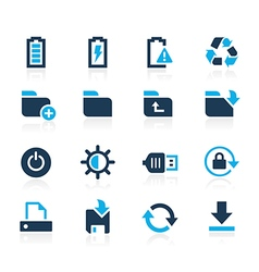 Web and Mobile 3 Azure Series vector image