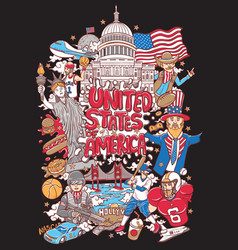 welcome to united states of america vector image