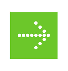 white right next arrow in green square vector image