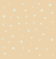 Yellow seamless pattern with stars flashes vector