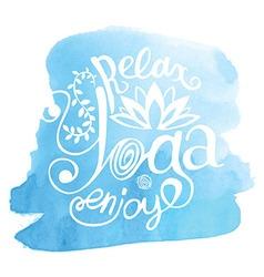 Yoga Blue vector